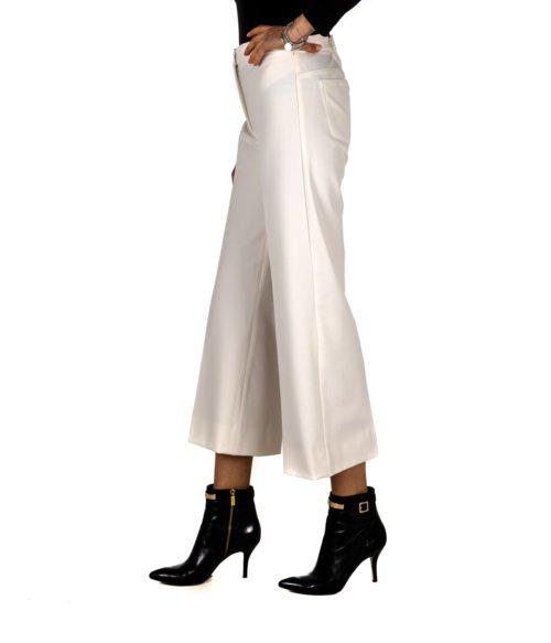 PANTALONE DONNA WEEKEND MAX MARA BIANCO SALVE01 STRETCH PANTS WHITE