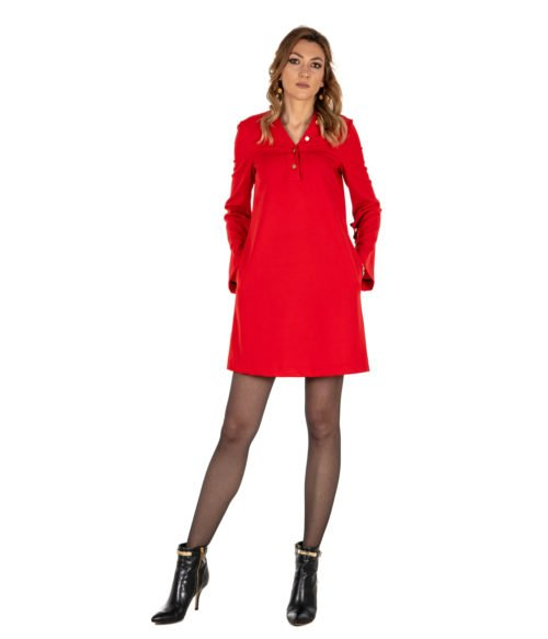 ABITO DONNA MAURO GRIFONI ROSSO LANA GD2700411 325 MADE IN ITALY DRESS WOMAN RED