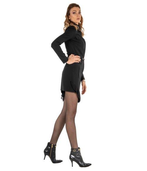 ABITO DONNA PATRIZIA PEPE NERO LANA DRESS WOMAN BLACK MADE IN ITALY 2A1856A1