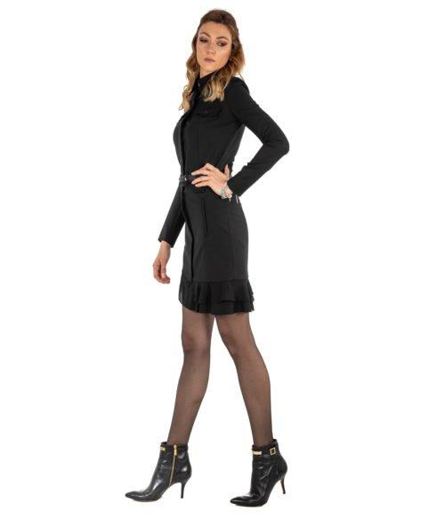 ABITO DONNA PATRIZIA PEPE NERO LANA DRESS WOMAN BLACK MADE IN ITALY 2A1856A1P