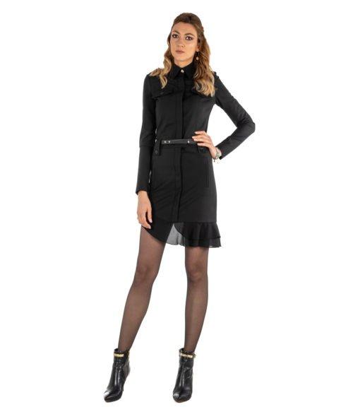 ABITO DONNA PATRIZIA PEPE NERO LANA DRESS WOMAN BLACK MADE IN ITALY 2A1856A1PH