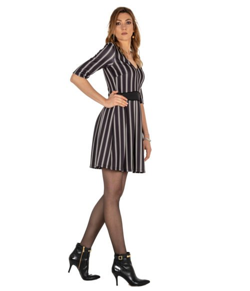 ABITO DONNA PATRIZIA PEPE NERO VERDE JERSEY DRESS WOMAN 8J0776A4 F1QX