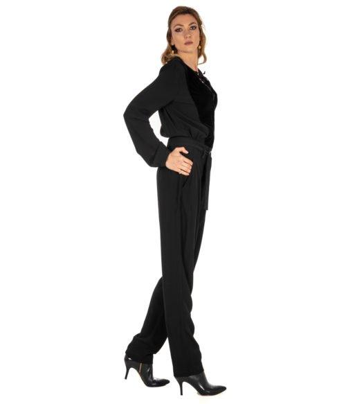 ABITO DONNA PINKO NERO TERRINA TUTA MAROCAINE Z99 BLACK LONG DRESS