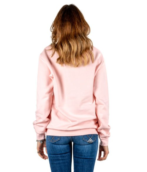 FELPA DONNA GAELLE PARIS ROSA MAGLIA GIROCOLLO GBD2720 MADE IN ITALY SWEATSHIRT WOMAN PINK GAELLE