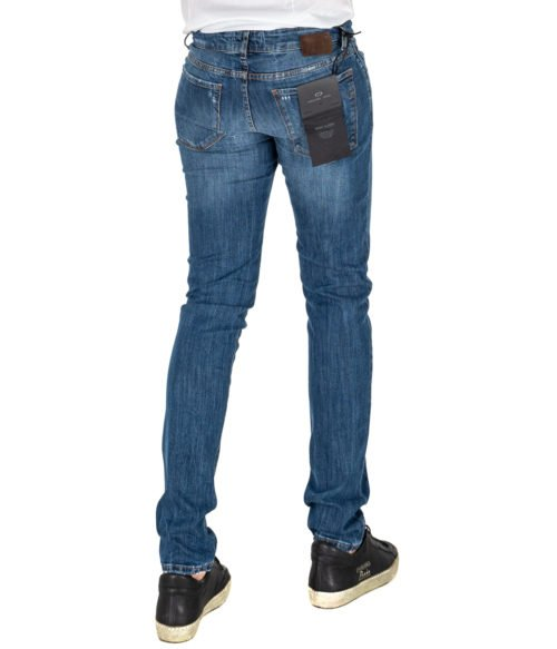 JEANS UOMO MICHAEL COAL BLU COTONE SKINNY FIT MADE IN ITALY 1000W