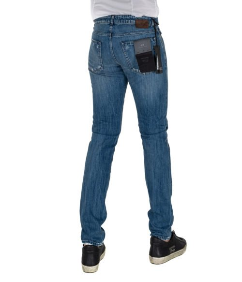 JEANS UOMO MICHAEL COAL BLU COTONE SKINNY FIT MADE IN ITALY 109712 L