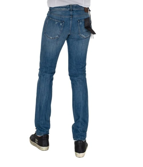 JEANS UOMO MICHAEL COAL BLU COTONE SKINNY FIT MADE IN ITALY 1097W2