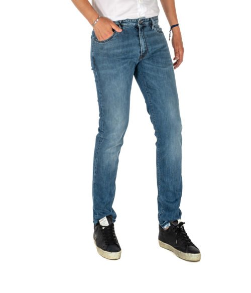 JEANS UOMO PT05 BLU PREMIUM DENIM SWING NEW SUPERSLIM FIT C6 DJ25Z10