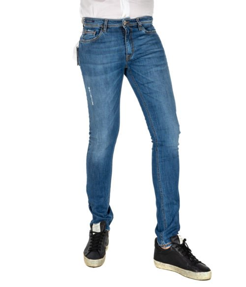 JEANS UOMO TELERIA ZED BLU PREMIUM DENIM SKINNY FIT MADE IN ITALY