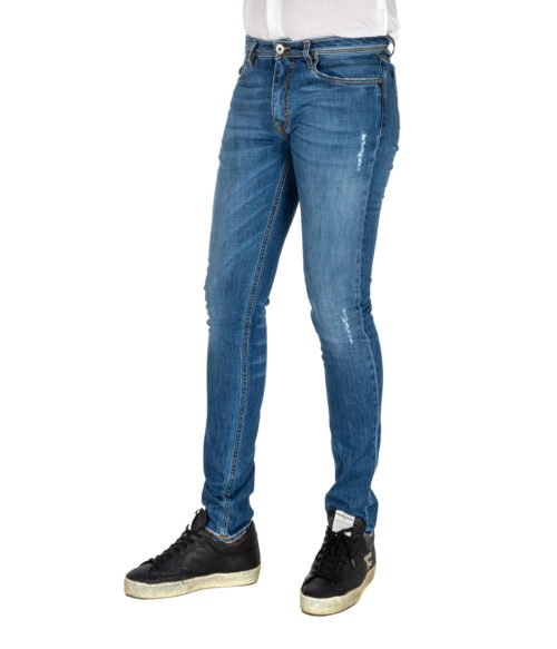JEANS UOMO TELERIA ZED BLU PREMIUM DENIM SKINNY FIT MADE IN ITALY COBRA F17