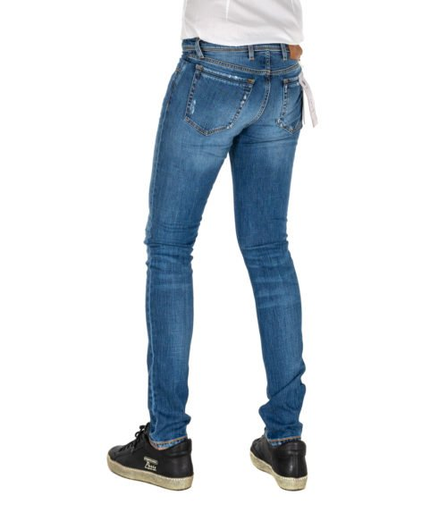 JEANS UOMO TELERIA ZED BLU PREMIUM DENIM SKINNY FIT MADE IN ITALY COBRA F17 UTL L 208
