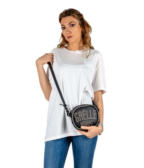 T-SHIRT DONNA GAELLE PARIS BIANCA GIROCOLLO GBD2852 MADE IN ITALY