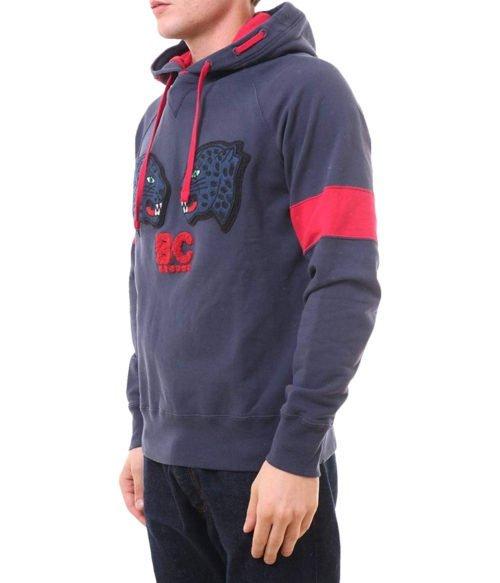 FELPA UOMO BEST COMPANY BLU CON CAPPUCCIO 692026