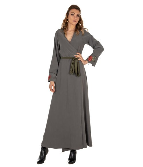 ABITO DONNA DVROMA VERDE LUNGO DRESS WOMAN