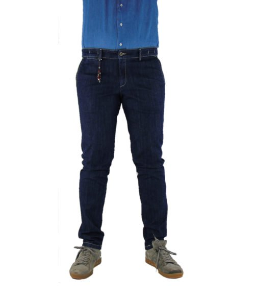 JEANS UOMO EXIGO BLU DENIM SCURO SLIM MADE IN ITALY