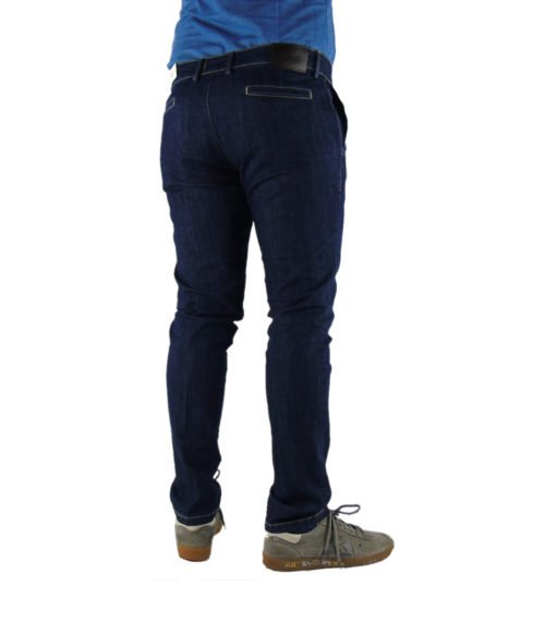 JEANS UOMO EXIGO DENIM SCURO SLIM FIT MADE IN ITALY