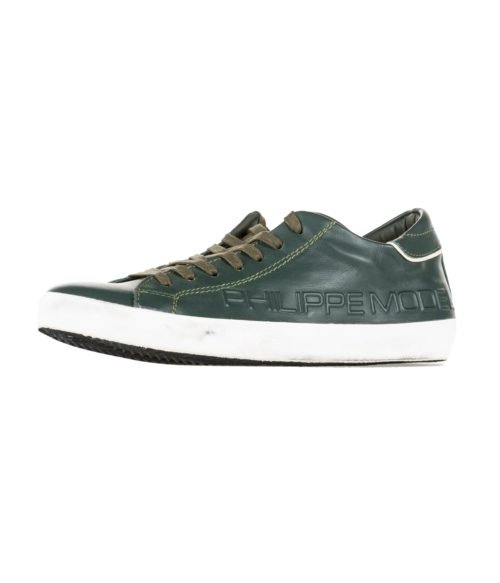 SNEAKERS UOMO PHILIPPE MODEL PARIS VERDE HAUT FREQUENCE