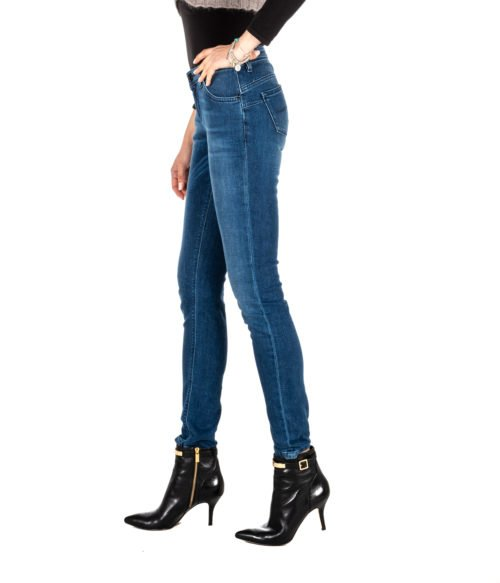 JEANS DONNA RE-HASH BLUE SKINNY PANTALONE RITA P302 27 MADE IN ITALY