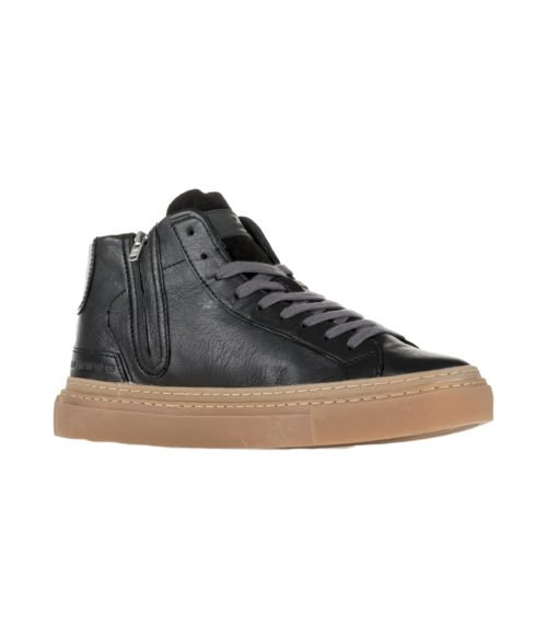 SNEAKERS UOMO D.A.T.E. NERA LAX HIGH GUM BLACK