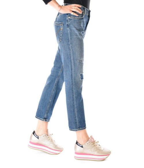 JEANS DONNA DONDUP DENIM SCURO PANTALONE PAIGE MADE IN ITALY