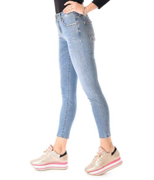 JEANS DONNA (+) PEOPLE DENIM VITA ALTA