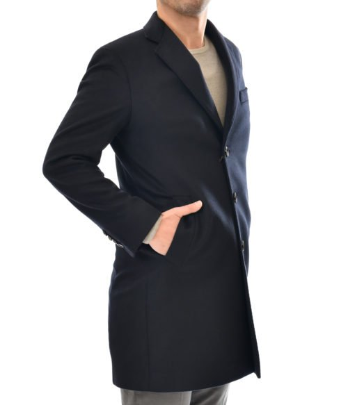 CAPPOTTO UOMO ARNOLD MILANO BLU LANA CACHEMIRE MADE IN ITALY SLIM FIT
