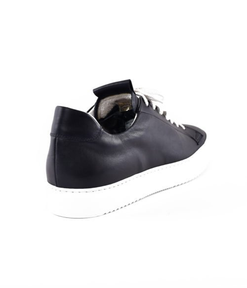 DOUCAL'S SNEAKERS UOMO BLU NOTTE PELLE MADE IN ITALY DU1796ERICUF055