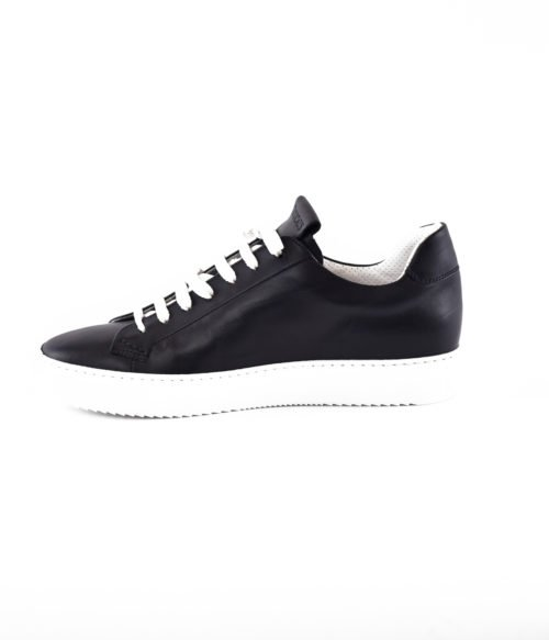 DOUCAL'S SNEAKERS UOMO BLU NOTTE PELLE MADE IN ITALY DU1796ERICUF055IB