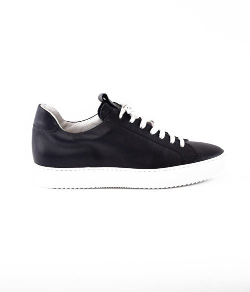 DOUCAL'S SNEAKERS UOMO BLU NOTTE PELLE MADE IN ITALY DU1796ERICUF055IB0