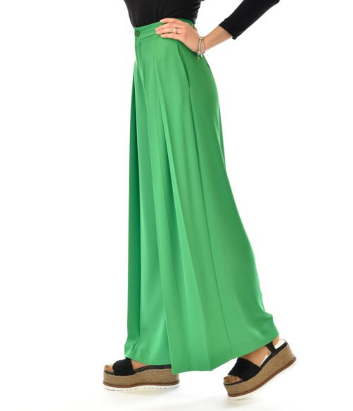 KOCCA PANTALONE DONNA VERDE AVEL PANTALONE FASHION MADE IN ITALY