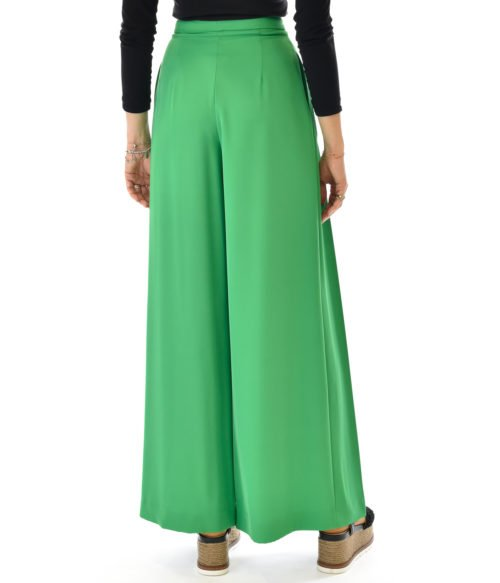 KOCCA PANTALONE DONNA VERDE PANTALONE FASHION MADE IN ITALY