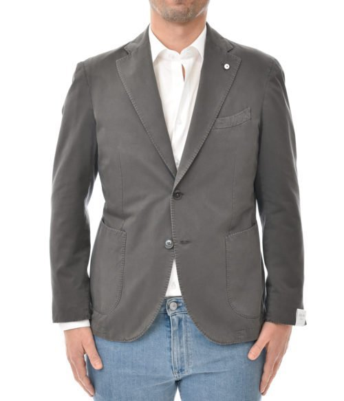 L.B.M. 1911 GIACCA UOMO GRIGIA COTONE SLIM FIT MADE IN ITALY