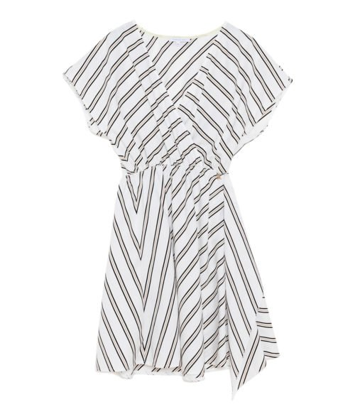 PATRIZIA PEPE ABITO DONNA BIANCO WHITE STRIPES 2A1936A3MD