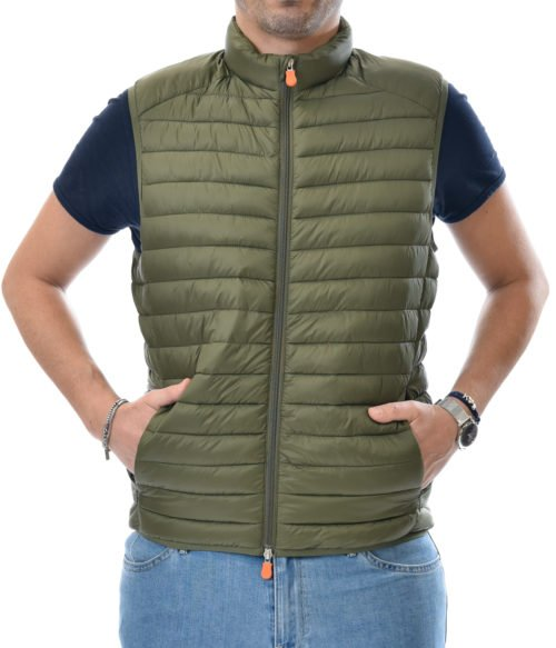 SAVE THE DUCK GILET UOMO VERDE D8241M