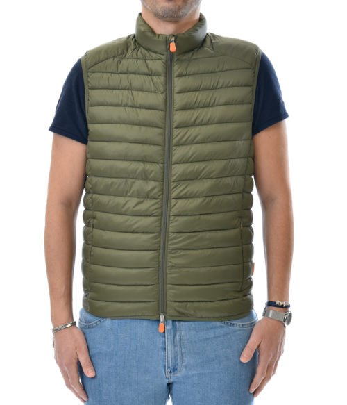 SAVE THE DUCK GILET UOMO VERDE D8241M GIGA