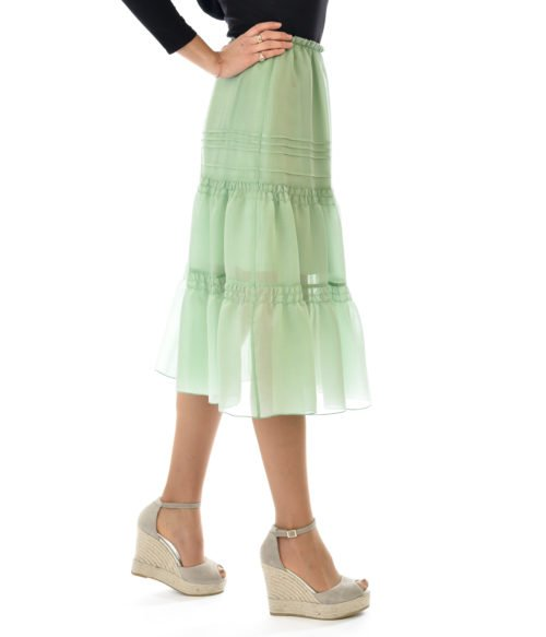 SEE BY CHLOÉ GONNA DONNA A BALZE VERDE GIUNGLA SPRING