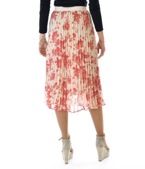 SEMICOUTURE GONNA DONNA ROSSA LONGUETTE A FANTASIA SPRING SUMMER WOMAN