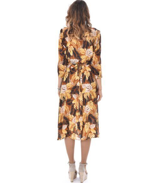 ATTIC AND BARN ABITO DONNA FLOREALE IN SETA PEONIA DRESS PRINTED CREPE MADE IN ITALY