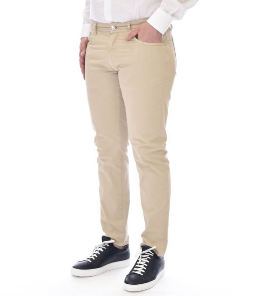 MICHAEL COAL PANTALONE UOMO BEIGE MC-GEORGE SLIM FIT MADE IN ITALY