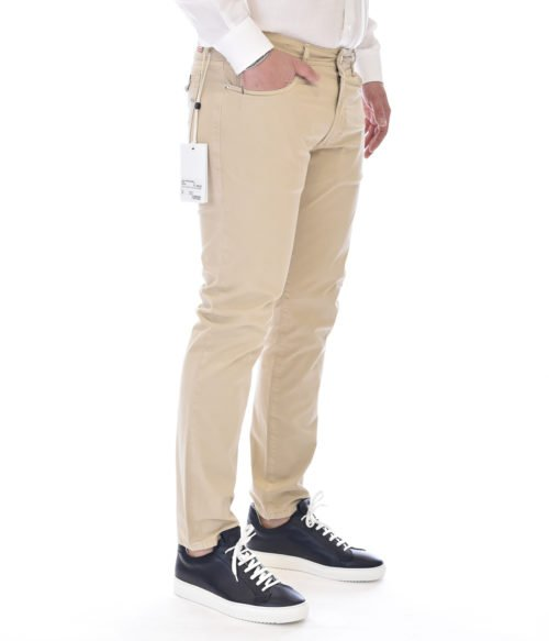 MICHAEL COAL PANTALONE UOMO BEIGE MC-GEORGE SLIM MADE IN ITALY