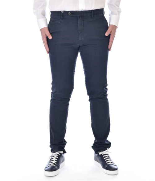 MICHAEL COAL PANTALONE UOMO BLU NAVY MC JAMES