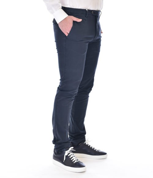 MICHAEL COAL PANTALONE UOMO BLU NAVY MC JAMES MADE IN ITALY
