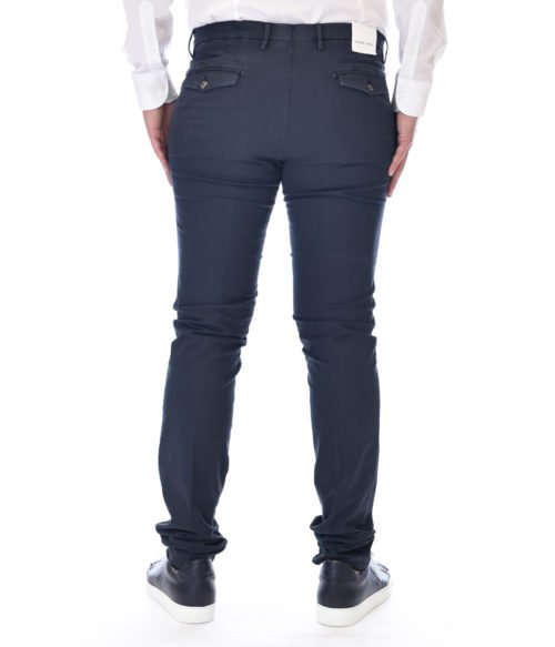 MICHAEL COAL PANTALONE UOMO BLU NAVY MC JAMES SLIM