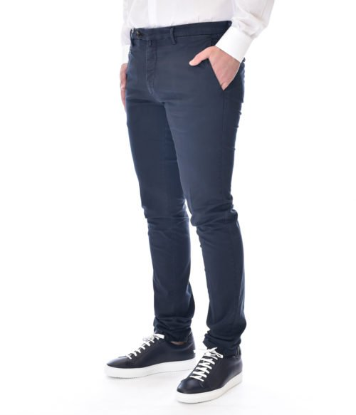 MICHAEL COAL PANTALONE UOMO BLU NAVY MC JAMES SLIM FIT
