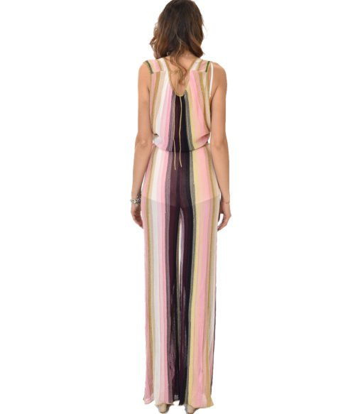 MISSONI ABITO DONNA ROSA JUMPSUIT IN LUREX FANTASIA 19E M2P0 AH59 MM2