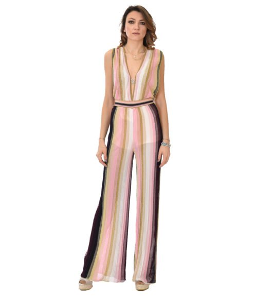 MISSONI ABITO DONNA ROSA JUMPSUIT IN LUREX FANTASIA 19E M2P0 AH59 MM21 M00