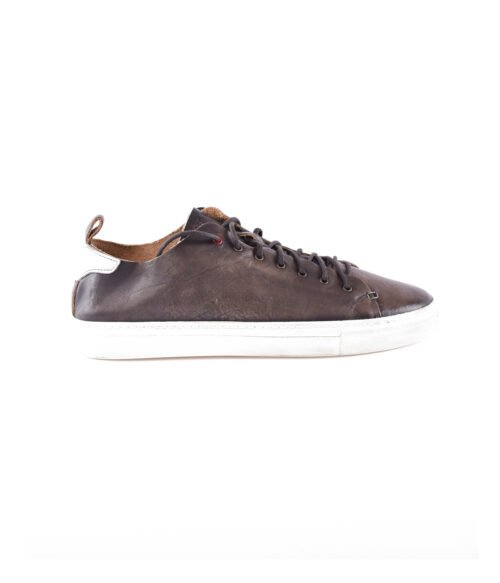 WALLY WALKER SNEAKERS UOMO MARRONE PELLE VINTAGE
