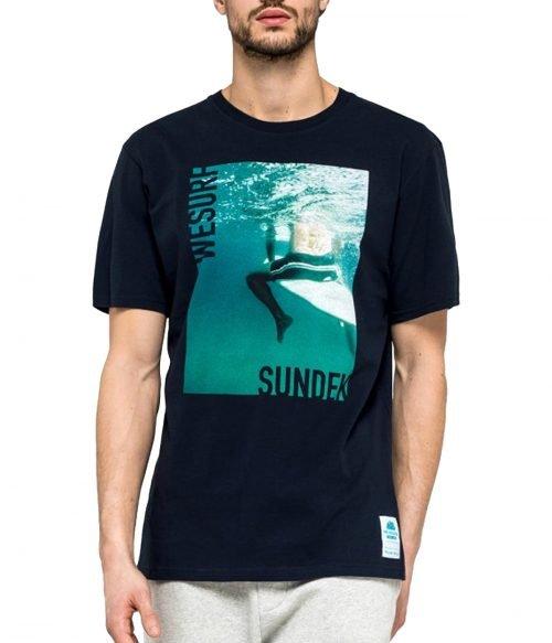 SUNDEK T-SHIRT UOMO BLU NAVY ETHAN M737TEJ7800 1