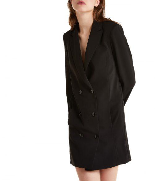 PATRIZIA PEPE ABITO DONNA NERO DOPPIOPETTO DRESS BLACK 1