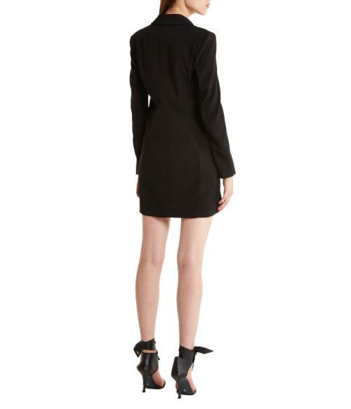 PATRIZIA PEPE ABITO DONNA NERO DOPPIOPETTO DRESS BLACK 2